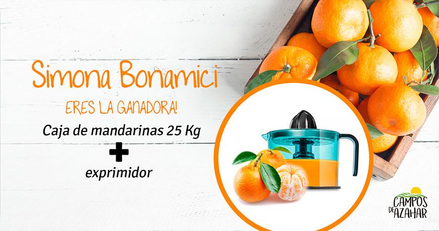 Ganador sorteo 25 Kg Naranjas - Campos de Azahar
